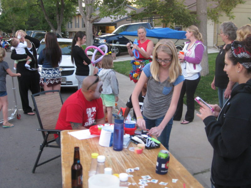Aurora Colorado block party