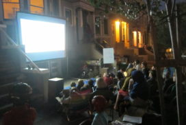 Block party outdoor movie