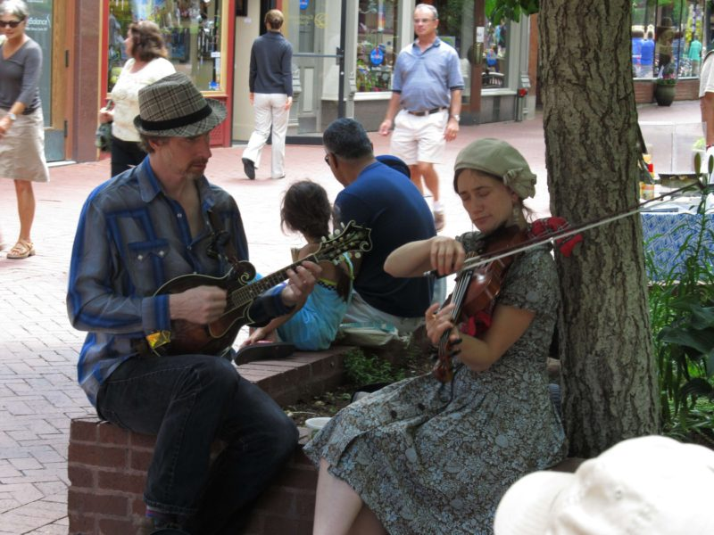 Plenty of places to make music on the Pearl Street Mall.