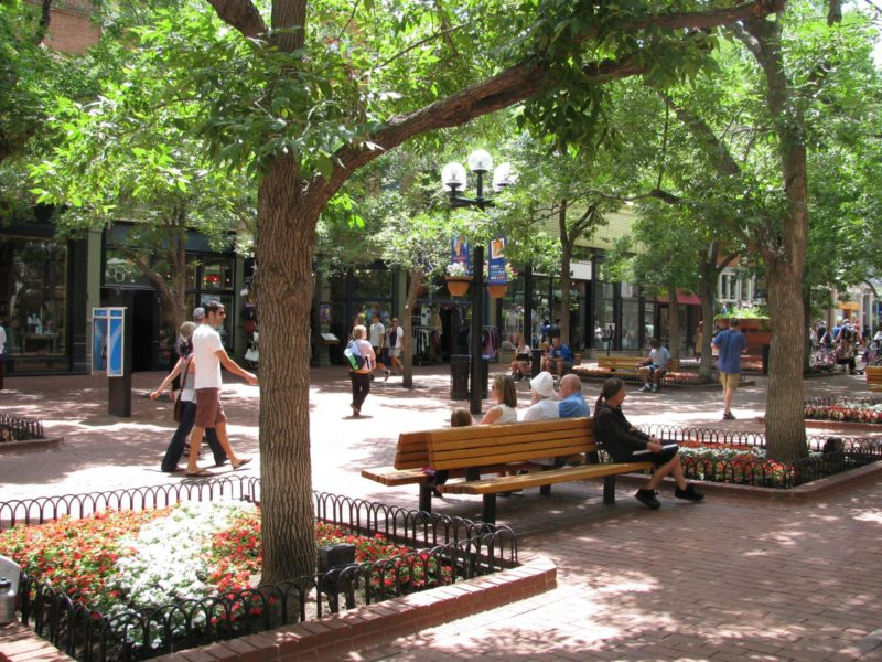 The Pearl Street Mall.