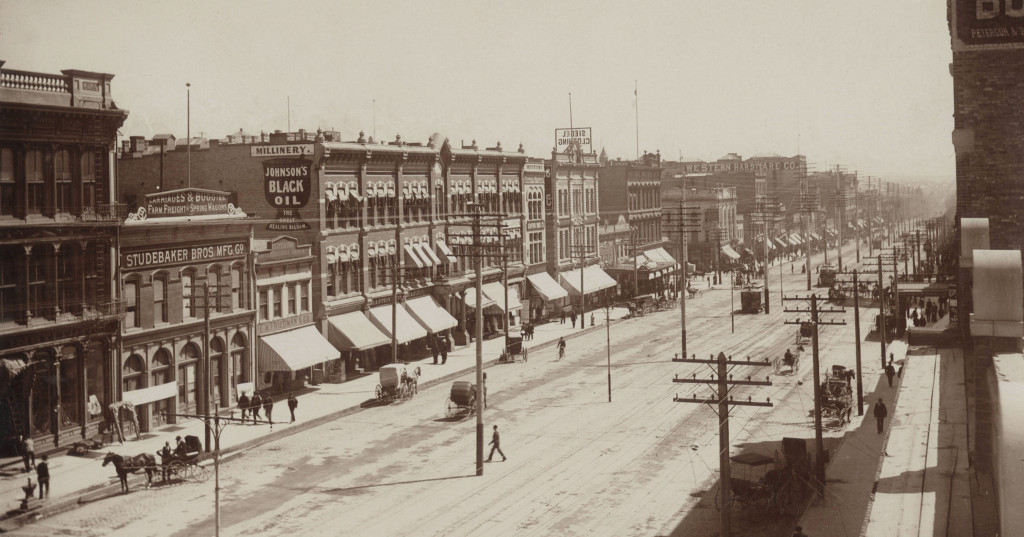 Main Street, Salt Lake City, circa 1890.