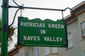 Patricia's Green sign