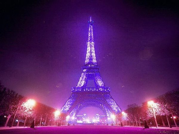 Prince purple Eiffel Tower