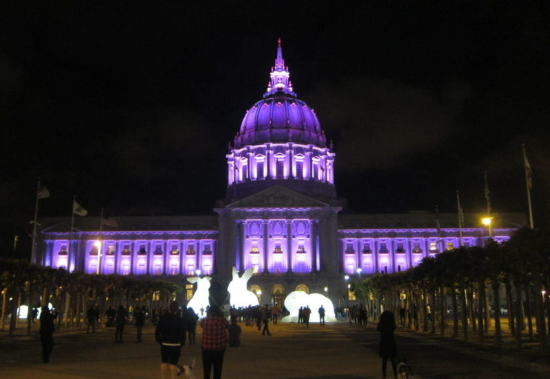 Prince purple SF City Hall