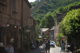 Conques, France - first street