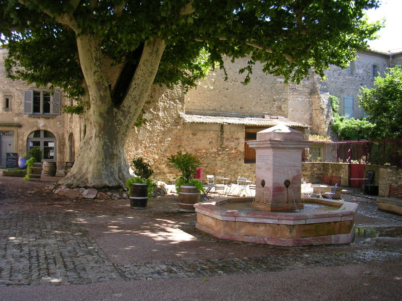 Conques, France - shaded spot