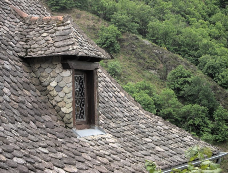 Conques, France - House roof