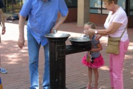 Pearl Street Mall fountain child
