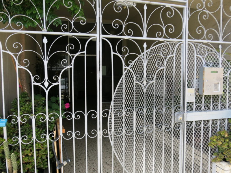 Irving apartment front gate