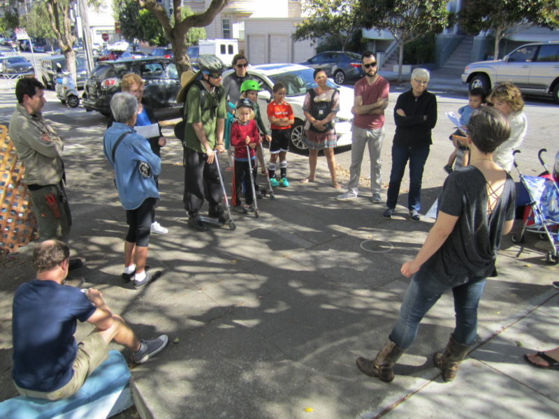 Block party sidewalk meeting 2