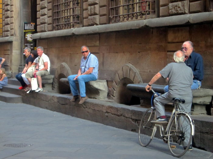 Lucca, Italy, older people