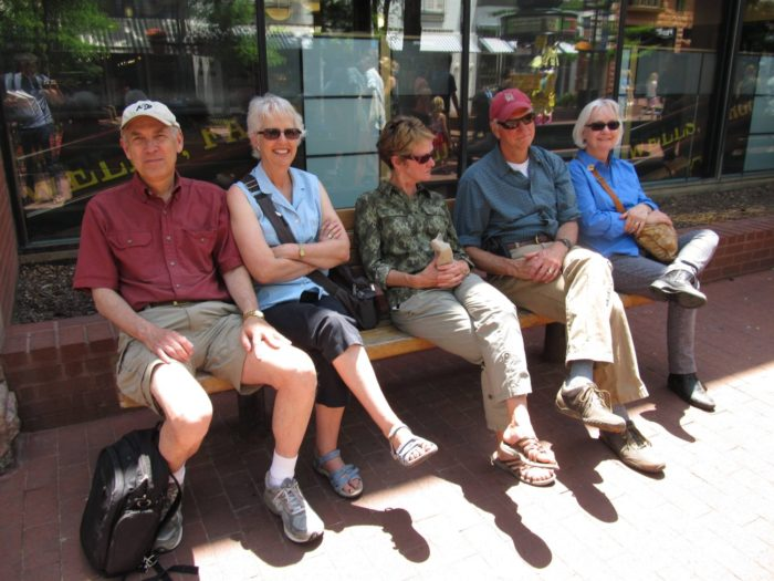 Pearl Street Mall Boulder Colorado older people