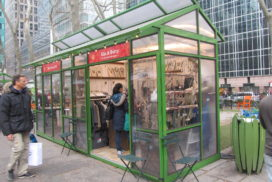 Winter Village kiosk, Bryant Park