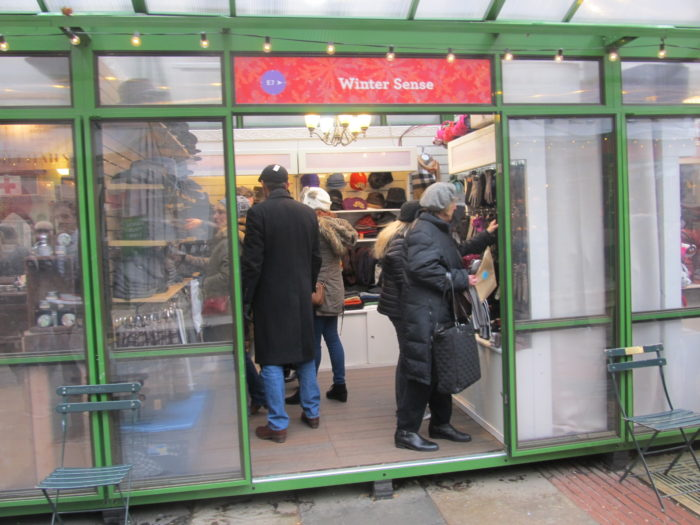 Winter Village kiosk, Bryant Park 3